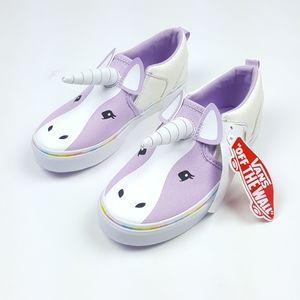 VANS Asher Unicorn Girls Slip On Shoes